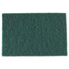 Medium-Duty Scouring Pad, 6 X 9, Green, 60/carton