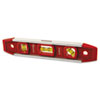 Magnetic Torpedo Level, 9 Long, Aluminum, Tri-Vial