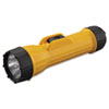 INDUSTRIAL HEAVY-DUTY FLASHLIGHT, 2 D BATTERIES (SOLD SEPARATELY), YELLOW/BLACK