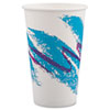 Jazz Paper Hot Cups, 16oz, Polycoated, White/Green/Purple, 1000/Carton 316JZJ