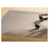 PVC Chair Mat for Medium Pile Carpet, 46 x 60, No Lip, Clear