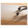 PVC Chair Mat for Hard Floors, 46 x 60, No Lip, Clear