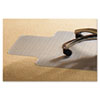 PVC Chair Mat for Standard Pile Carpet, 45 x 53, 25 x 11 Lip, Clear