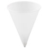 Cone Water Cups, Paper, 4oz, Rolled Rim, White, 200/Bag, 25 Bags/Carton