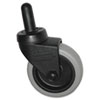 """Replacement Swivel Bayonet Casters, 3"""" Wheel, Thermoplastic Rubber, Black"""