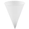 Cone Water Cups, Paper, 4.25oz, Rolled Rim, White, 5000/Carton 42R2050