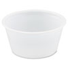 Polystyrene Portion Cups, 2oz, Translucent, 250/Bag, 10 Bags/Carton P200N