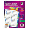 Ready Index Customizable Table of Contents Double Column Dividers, 24-Tab, Ltr