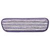 Microfiber Finish Pad, 18 X 5 1/2, Blue/white, 6/carton