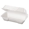 Foam Hoagie Container, 8 7/16 x 4 3/16 x 3 1/16, White, 125/Bag, 4 Bags/Carton