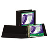 """Clean Touch Locking Round Ring View Binder, Antimicrobial, 4"""" Cap, Black"""