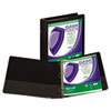 """Clean Touch Locking Round Ring View Binder, Antimicrobial, 1 1/2"""" Cap, Black"""