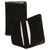 Regal Leather Business Card Wallet, 25 Card Cap, 2 X 3 1/2 Cards, Black