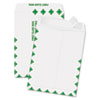 Redi Strip Catalog Envelope, 9 x 12, First Class Border, White, 100/Box