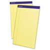 Perforated Writing Pad, 8 1/2 x 14, Canary, 50 Sheets, Dozen