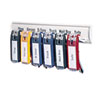 Key Tag Rack w/6 Tags, 24 Tag Capacity, 8 3/8 x 1 3/8 x 14 1/8, White Plastic