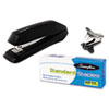 STANDARD STAPLER VALUE PACK W/STANDARD STAPLES & REMOVER, 15-SHEET CAP, BLACK