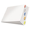 Paper Insertable Dividers, 5-tab, 11 X 17, White Paper/multicolor Tabs