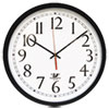 "Selfset Wall Clock, 16-1/2"", Black"
