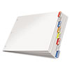 Paper Insertable Dividers, 8-tab, 11 X 17, White Paper/multicolor Tabs