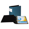 """DXL Heavy-Duty Locking D-Ring Binder With Label Holder, 3"""" Cap, Teal"""