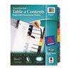 Ready Index Customizable Table Of Contents Plastic Dividers, 8-Tab, Letter