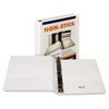 "Nonstick D-Ring View Binder, 11 x 8-1/2, 1"" Capacity, White"