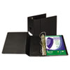 """Clean Touch Locking D-Ring Reference Binder, Antimicrobial, 5"""" Cap, Black"""