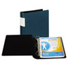 """DXL Heavy-Duty Locking D-Ring Binder With Label Holder, 2"""" Cap, Teal"""