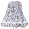 Web Foot Finish Mop, White, Med, Cotton/synthetic, 1. White Headband, 6/carton