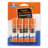 Washable All Purpose School Glue Sticks, 4/Pack
