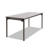 Maxx Legroom Rectangular Folding Table, 72w x 30d x 29-1/2h, Gray/Charcoal
