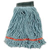 Web Foot Wet Mop Head, Shrinkless, Cotton/synthetic, Green, Medium, 6/carton