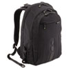 "Protects laptops up to 15.6"" and is constructed of polyester made from recycled plastic bottles."