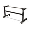 Height-Adjustable Flipper Table Base, 72w x 24d x 28-1/2 to 45h, Black
