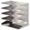 Soho Horizontal Organizer, Letter, Five Tier, Steel, Silver