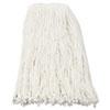 Premium Cut-End Wet Mop Heads, Rayon, 16oz, White, 12/Carton