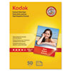Kodak Premium Photo Paper, 8.5 mil, Glossy, 8 1/2 x 11, 50 Sheets/Pack KOD8360513