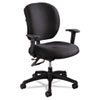 Alday Series Intensive Use Chair, 100% Polyester Back/100% Polyester Seat, Black