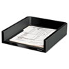 Designer Suites Desk Tray, Plastic, Black Pearl