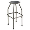 Diesel Series Industrial Stool, Stationary Padded Seat, Steel Frame, Pewter