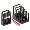 Adjustable File Rack, Five Sections, 8 X 10 1/2 X 11 1/2, Black