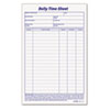 Daily Time and Job Sheets, 8 1/2 x 5 1/2, 200/Pad, 2/Pack