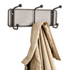 Onyx Mesh Wall Racks, 3 Hook, Steel