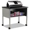 Mobile Machine Stand, One-Shelf, 30w x 21d x 26-1/2h, Anthracite/Gray