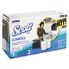 Slimroll Dispenser Kit, 8 1/2w x 20 3/4d x 13 13/100h, Smoke/White, w/2 Rolls