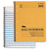 Data notebook with nine columns and a summary column.