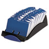 Rolodex™ VIP Open Tray Card File with 24 A-Z Guides Holds 500 2 1/4 x 4 Cards, Black ROL66998