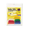 Picture of Insertable Index Tabs with Printable Inserts 1 12 Assorted White 25Pack