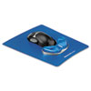 Fellowes Gliding Palm Support Blue Mouse Pad with Wrist Pillow